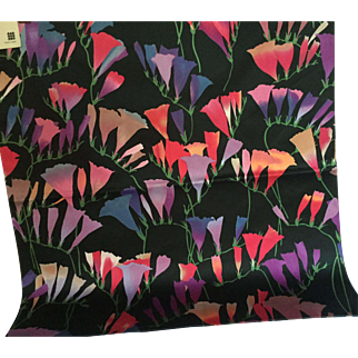 "Vibrant 1982 Jack Lenor Larsen fabric, ""Freesia"""