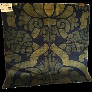 """Signature Larsen Fabric, """"Conquistador"""" 1966, Cotton Velvet Batik"""