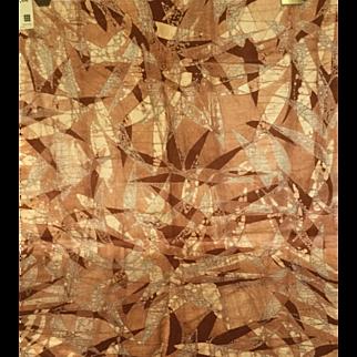 Larsen Wax Batik on Cotton Velvet, 1971