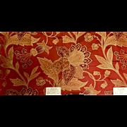 Matched Pair Lacquer Silk Damasks, Cowtan & Tout
