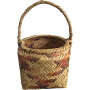 Native American Indian Basket Made by Mississippi Choctaws