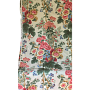 "Exquisite Scalamandre Linen ""Buckingham Garden"" - Red Tag Sale Item"