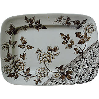 Brown Transfer Platter in the Albert Pattern