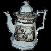Oriental scene Large Teapot