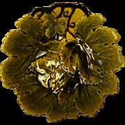 Czechoslovakian Leaf Design bowl