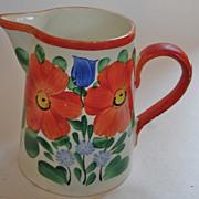 Czech handpainted 5 inch pitcher