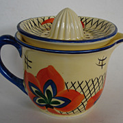 Czech Juice Pitcher with reamer lid