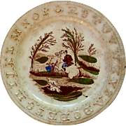 """Fox Hunt Aborted""  Children's ABC plate"