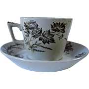 """Poppy"" Cup and Saucer"