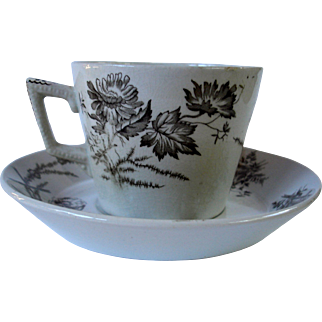 """""""Poppy"""" Cup and Saucer"""