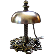Fanciful ANTIQUE 19th Century HOTEL BELL with Side Lever circa 1890