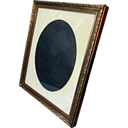 Antique French Style BRONZE Tabletop PICTURE FRAME with Silk Faille Matte 1900