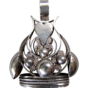 ANTIQUE 19th Century DUTCH SILVER Hand Made Pocket Watch Fob