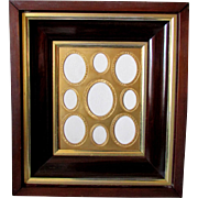 Antique 19th Century MULTIPLE IMAGE Daguerreotype FRAME Shadowbox circa 1850
