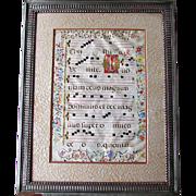 Antique 16th - 17th Century Antiphonal LATIN  Illuminated VELLUM MUSIC LEAF Italian