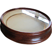 Large ANTIQUE 19th Century Victorian Era Deep Walnut SHADOWBOX Pocket Frame 1860