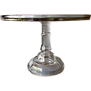 ANTIQUE Early American Pattern  Glass PEDESTAL CAKE STAND 19th Century Bakers Style EAPG circa 1860