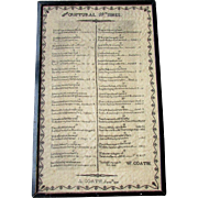 Antique 19th Century AMERICAN SAMPLER Scriptural Wishes A. COATH 1836