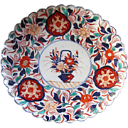 """Antique JAPANESE Hand Painted Porcelain Plate 12"""" IMARI CHARGER circa 1890"""