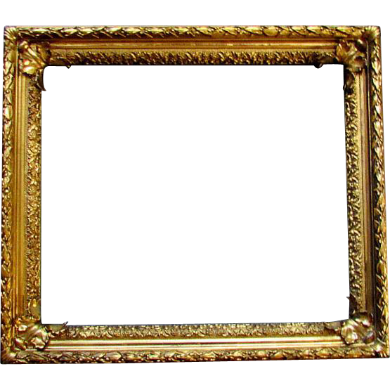 Antique 19th Century Gilt Wood & Gesso PAINTING FRAME with ACANTHUS ...
