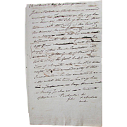 Antique Hand Written SLAVERY DOCUMENT Warwick Rhode Island Settlement Examination of Free African American's RUNAWAY SLAVES