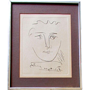 Vintage PABLO PICASSO Original Etching POUR ROBY Collector's Guild circa 1960's