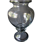 Large ANTIQUE Pharmaceutical Apothecary Blown Glass Jar LEECH BOWL