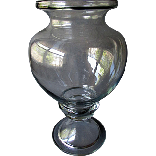 Large ANTIQUE Pharmaceutical Apothecary Blown Glass Jar LEECH BOWL