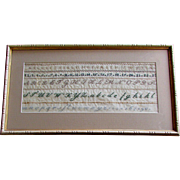 Excellent ANTIQUE 19th Century Hand Worked ALPHABET SAMPLER with Fine Stitching