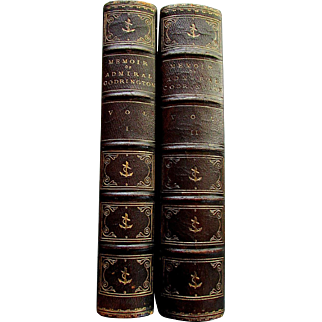 Antique Books - Volume I & II  - MEMOIR - Life of Admiral Sir Edward Codrington - 1873