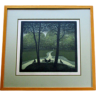 Vintage HAROLD ALTMAN Etching PATH III Limited Edition Print- Artist Signed  47/165