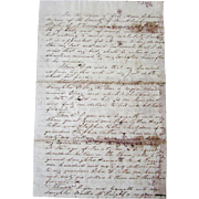 Antique SLAVERY Last Will & Testament Document SAMUEL WILSON North Carolina 1841