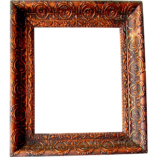 Antique 19th Century Aesthetic Movement PAINTING FRAME Copper Finish 1870