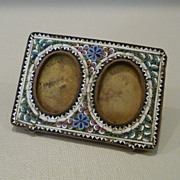 Vintage Italian Micro Mosaic Double Picture Frame