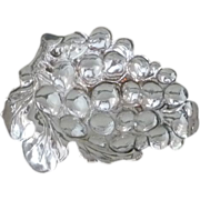 Small Sterling Silver Dish with Grape Design - Red Tag Sale Item