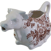 Royal Crownford England Ironstone Charlotte Cow Creamer