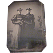 Vintage Tintype of Mourning Women