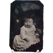Vintage Tintype Child with Creepy Hand