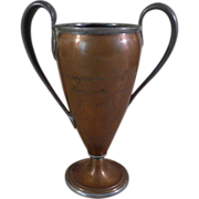 Antique Reed & Barton Copper Pewter Golf Trophy