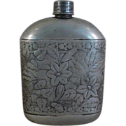 Antique Repousse Flask by Meriden B. Company