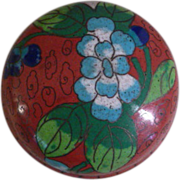 Chinese Cloisonne Enamel Lidded Trinket Box