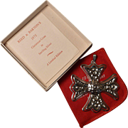 Sterling Silver Limited Edition Reed & Barton 1975 Christmas Cross Ornament Pendant
