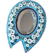 Antique Micro Mosaic Micromosaic Mirror