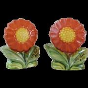 Vintage Flower Salt & Pepper Shakers - Souvenir - Made in Japan