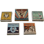 Collection of Vintage Univex Movies 8mm Films - Mickey Mouse, Popeye, Betty Boop, Our Gang & Krazy Kat