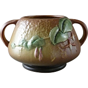 Vintage ROSEVILLE POTTERY Fuchsia #346-4 Double Handled Bowl
