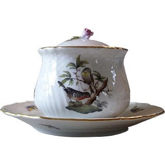 Herend Hungary Porcelain Covered Inkwell
