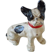 Vintage HUBLEY No. 386 Cast Iron French Bull Dog Figural Paperweight