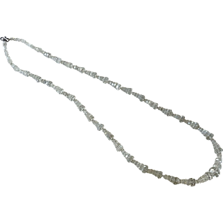 Vintage Faceted Conical Clear Crystal Necklace