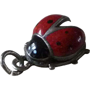Vintage Lady Bug Charm Marked .835 Silver